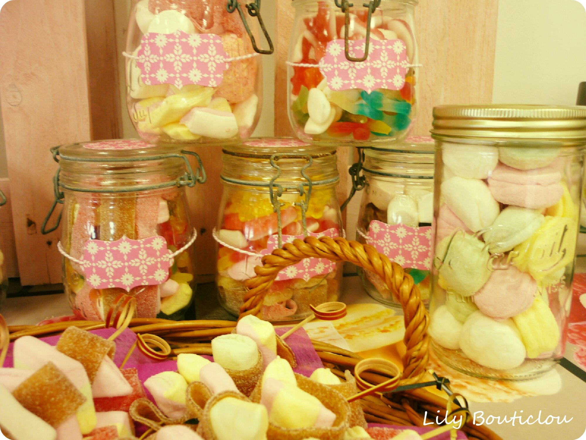 candy bar mariage DIY lilybouticlou