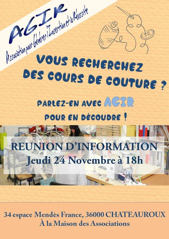 affiche reunion couture