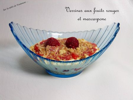 Verrines aux fruits rouges et mascarpone 1