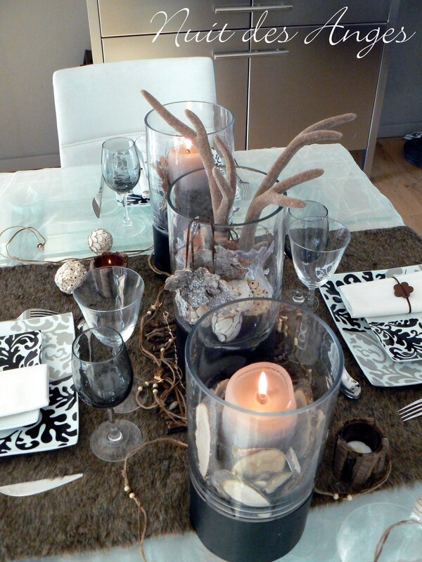 Nuit des anges décoratrice de mariage décoration de table scandinave 002