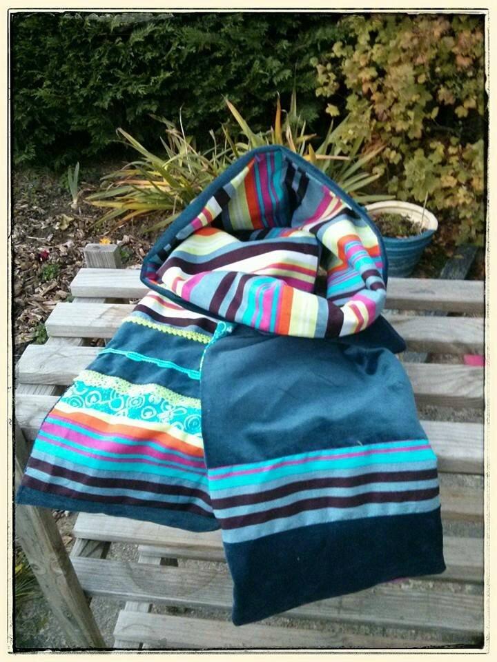 Echarpe multicolore rayures