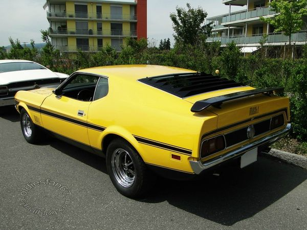 ford mustang mach1 fastback coupe 1971 1972 b
