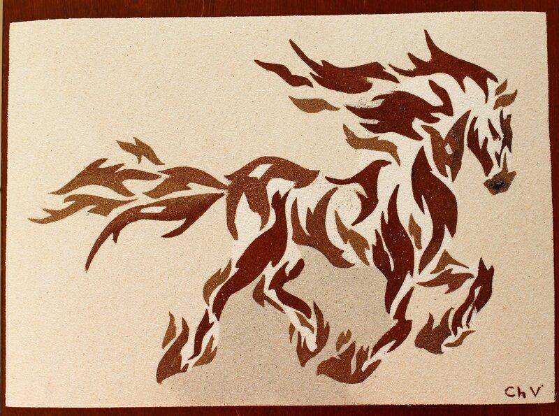 cheval tribal 1
