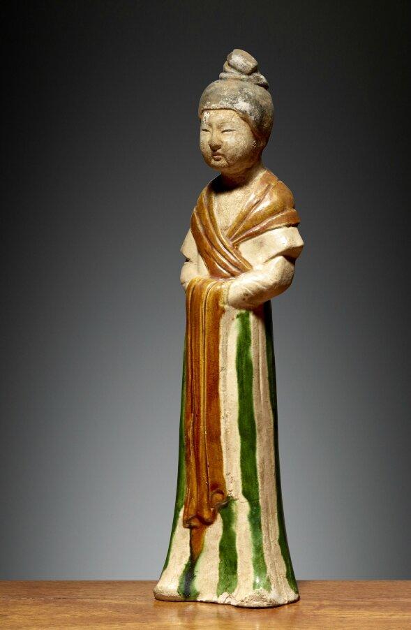 Dame de cour, Chine, Dynastie des Tang (618 – 907), 7°- 8°siècle