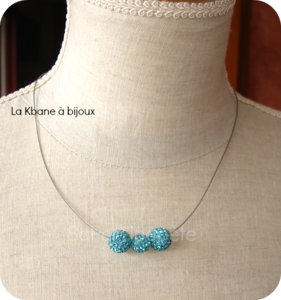 collier strass turquoise