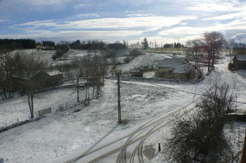 2008 11 22 Paysage de madelonnet sous la neige est le soleil