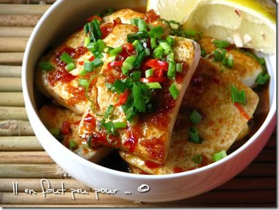 crispy tofu sweet & spicy