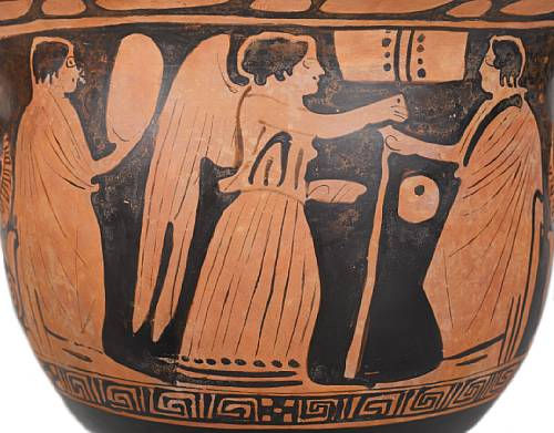 A Large Attic Red Figure Bell Krater Attributed To The