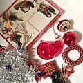 décorations Noël rouge et vert - vintage- marimerveille