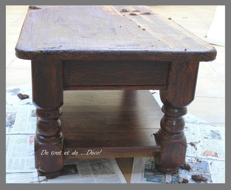 Table basse de tout et de d co - Table basse ancienne en bois ...