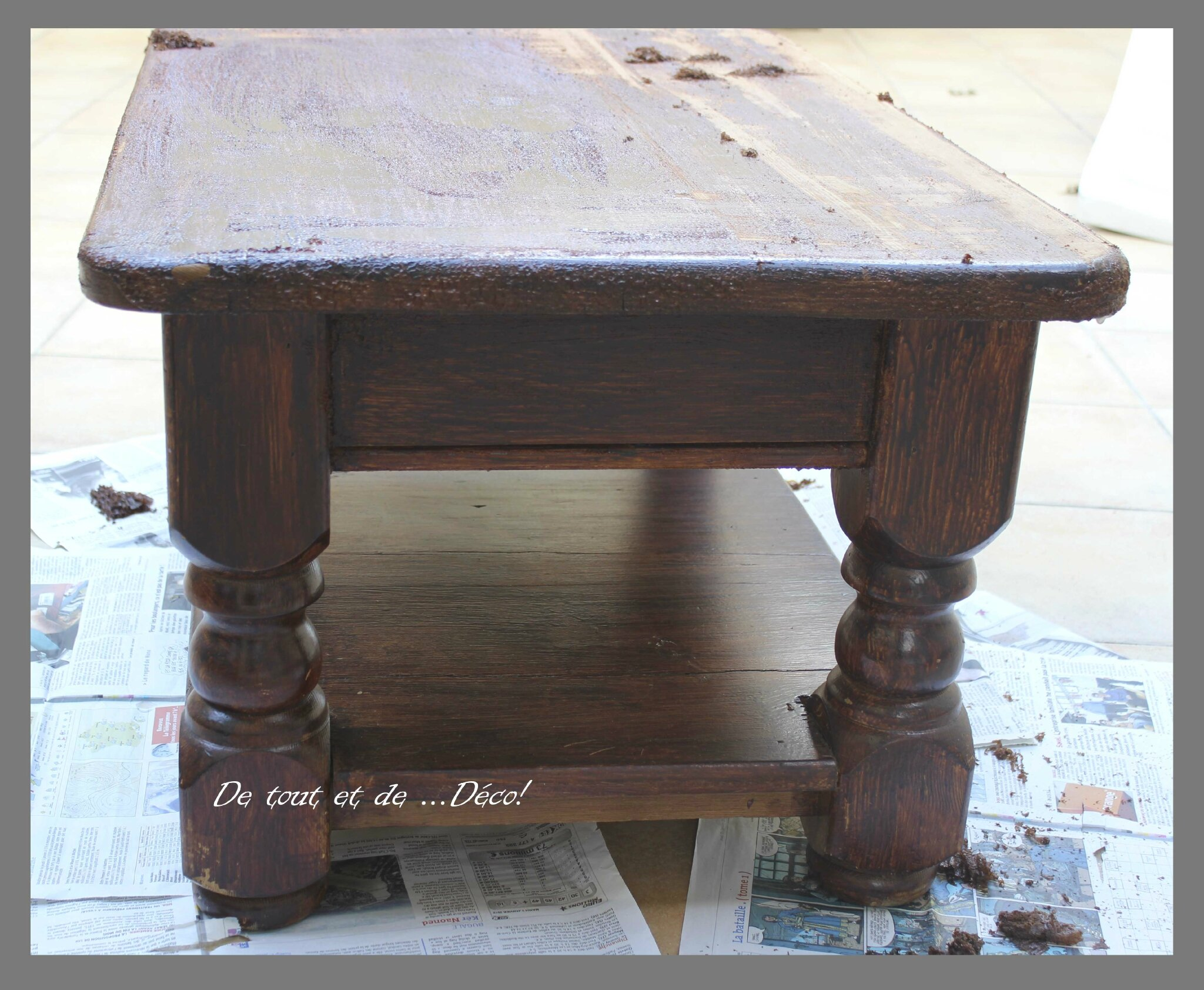 Table basse de tout et de d co - Relooker une table de salon ...