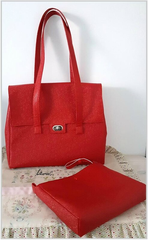 SAC SIMILI BUBBLES ROUGE + ORGANISEUR