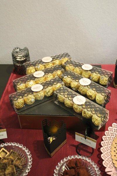 Sweet table Réveillon chez Gatsby : les cadeaux d'invités