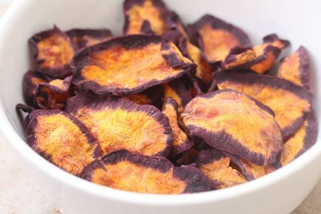 chips de carottes violettes chez requia blog