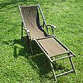 Chaise longue relookée