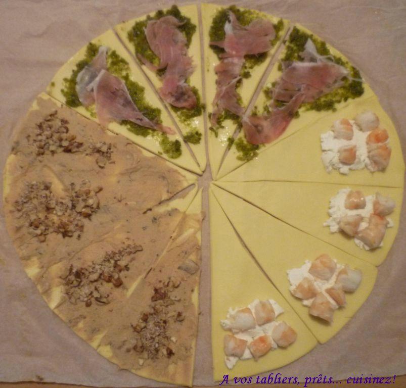 Fabuleux Croissants au pesto et jambon fumé, et autres - A vos tabliers  OC46