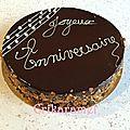Royal chocolat, fraisier et spéculoos/passion