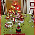 table de Noël rouge et anis 37