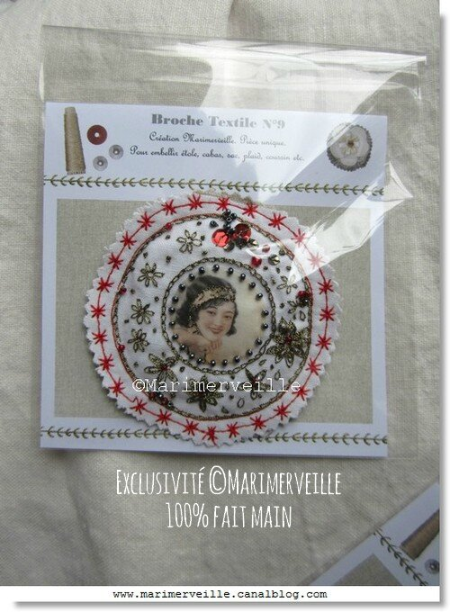 Broche textile N°9 Marimerveille