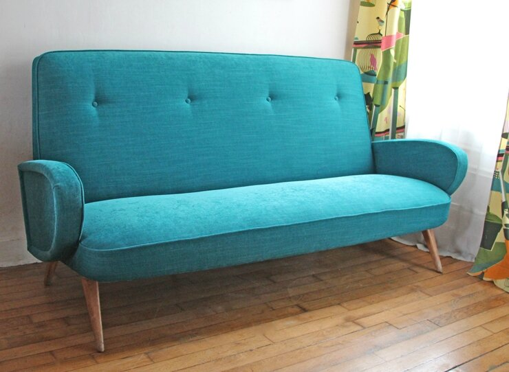 canape-annees-50-turquoise-face