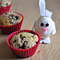 Muffins aux fruits rouges et au chocolat blanc