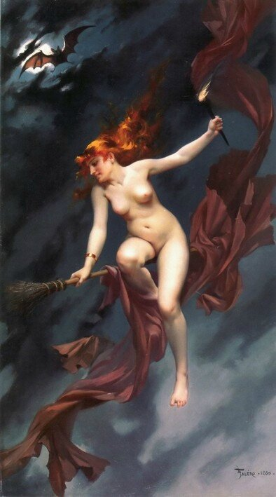 The witches Sabbath 1880 - Luis Ricardo Falero