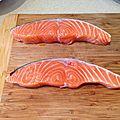 Grillade de saumon mariné