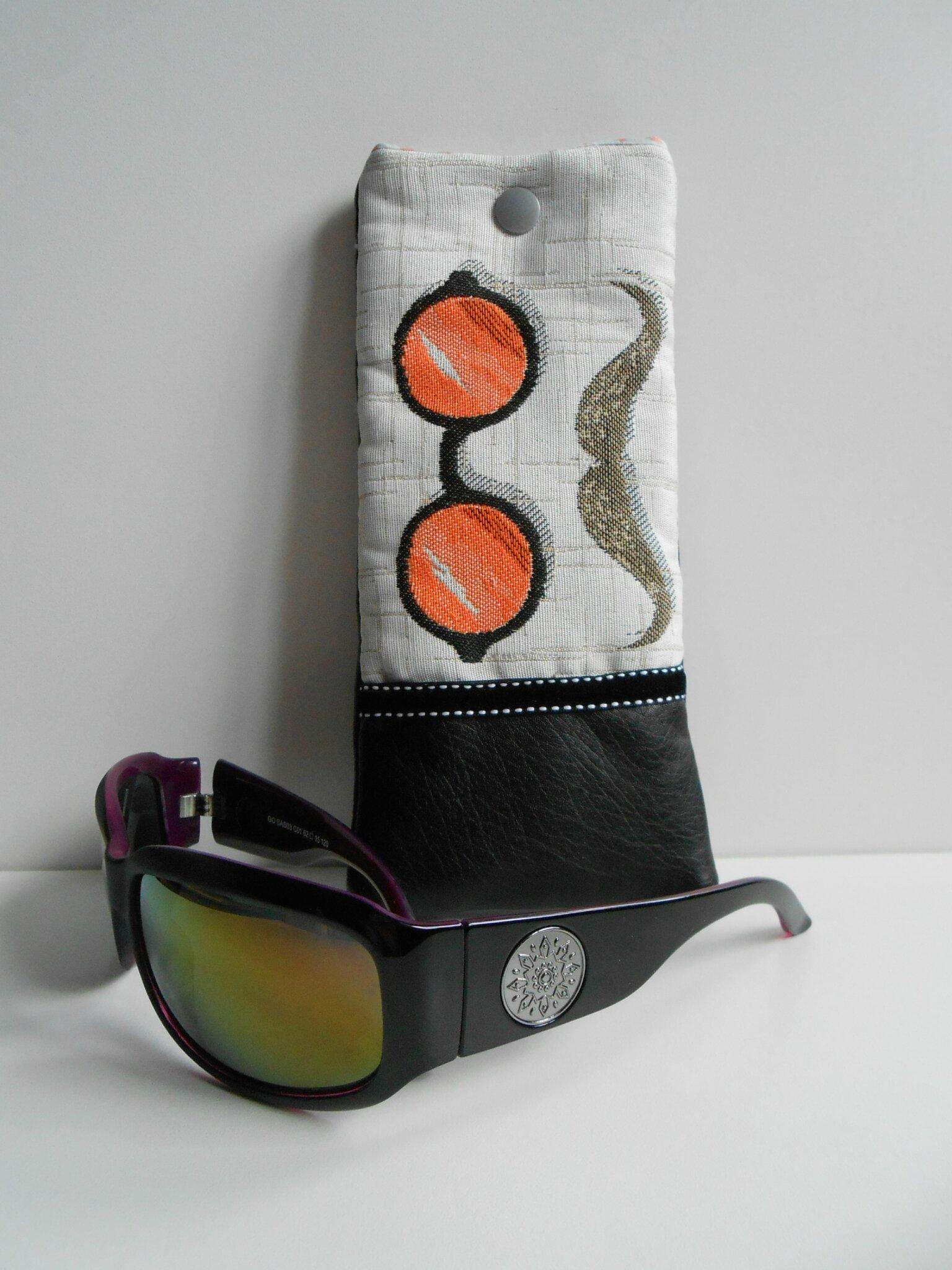 Modèle 4 -Etui lunettes orange