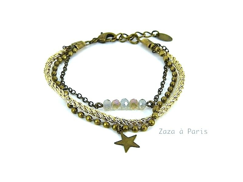 Bracelet Liens Bronze or
