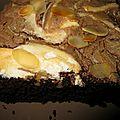 Gâteau choco noisette meringué