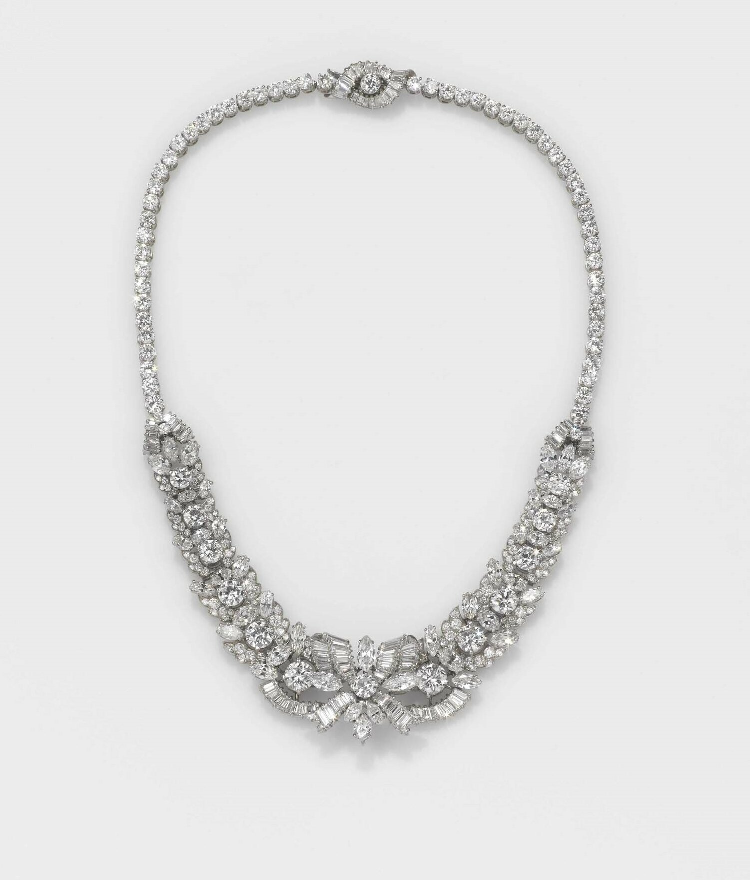 Petochi, an old-cut diamond necklace-bracelet combination, Rome, first half 20th century