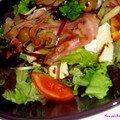 Salade de mesclun à la pancetta et fêta - mozzarella ...