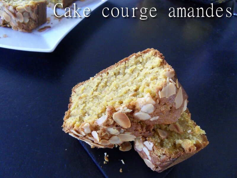 cake courge amandes