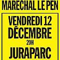 Lons-le-saunier : des manifestants pour la venue de marion maréchal-le pen