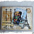 Carte kirigami pop-up : j'aime paris...et les titis parisiens