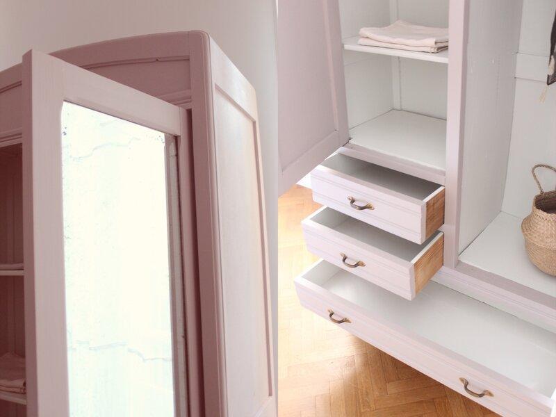 armoire chambre enfant vieux rose penderie TRENDY LITTLE 8