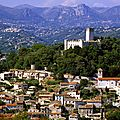 LE VILLAGE DE VILLENEUVE LOUBET DANS LES ALPES-MARITIMES EN FRANCE