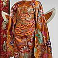 Robe de mandarin de 1er degr 1re classe. Indochine, dbut XXe sicle