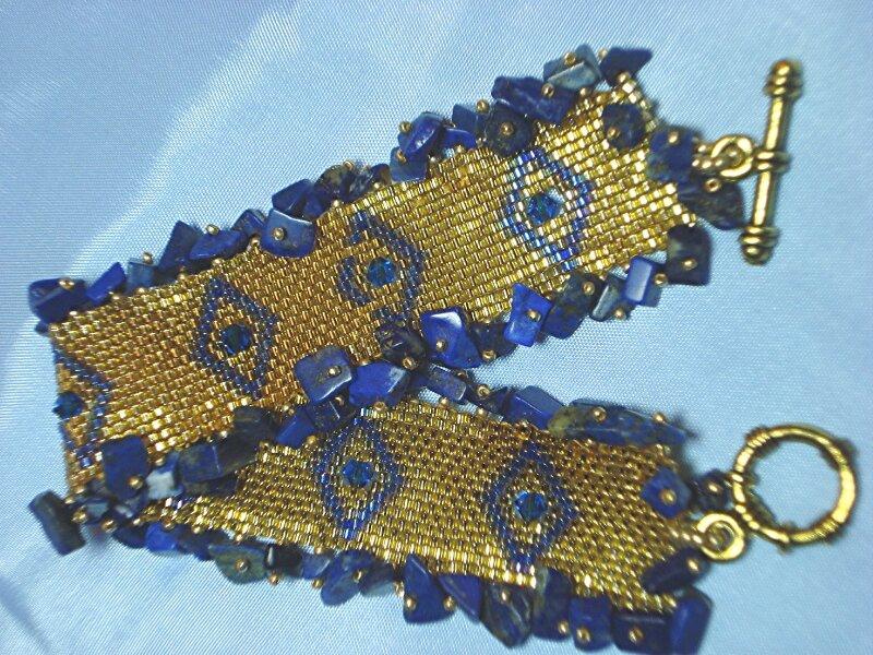 538b bracelet parure lapis