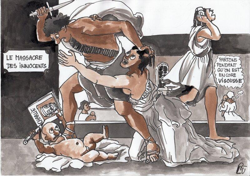 Massacre de Charlie Hebdo (selon Poussin)