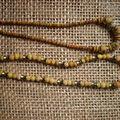 Perles anciennes ( Afrique) en terre et pâte de verre