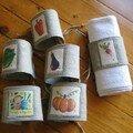 ronds serviettes - legumes- de mamilie