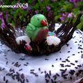gateau nid d'oiseau
