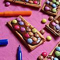 Barres chocolatées aux smarties