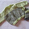 Brassiéreet chaussons tricotés mains modèle NAELLE taille 1 mois prix 17€