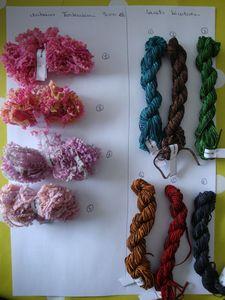 ruban hortensia et lacet bicolore