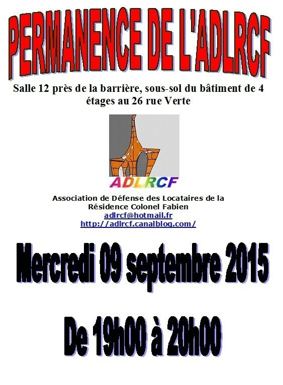 permanence ADLRCF septembre 2015