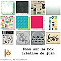 La box créative de juin 2016