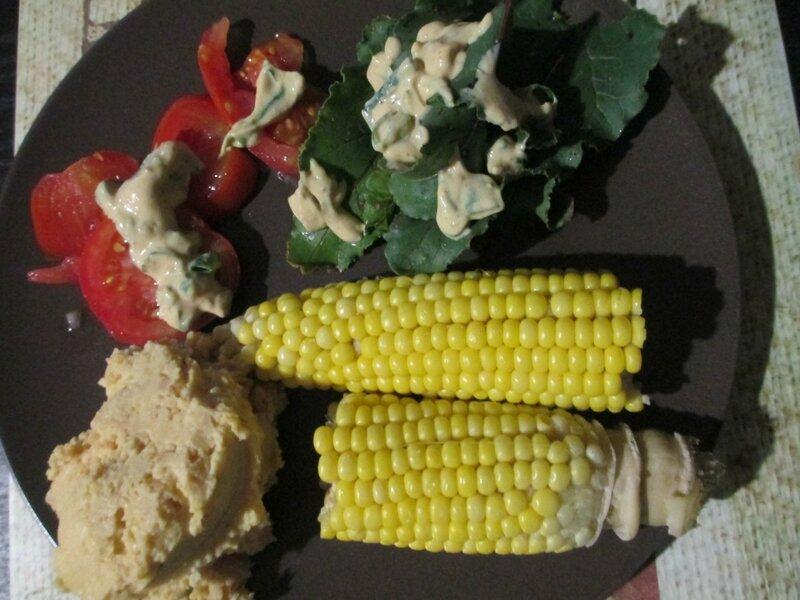 maïs-chaud-crudités-tomates