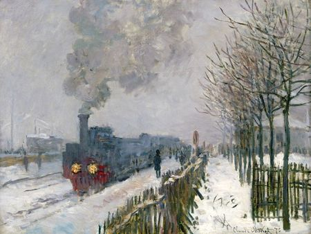 Monet Le Train dans la neige 1875